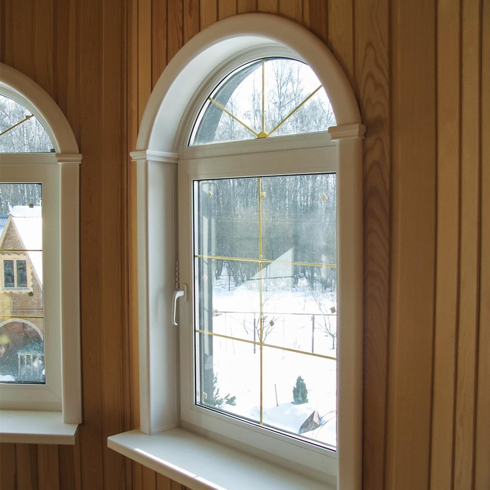 Отделка арочного окна